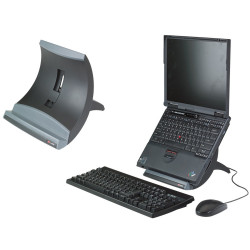 3M LX550 Vertical Notebook And Tablet Riser  Black and Grey