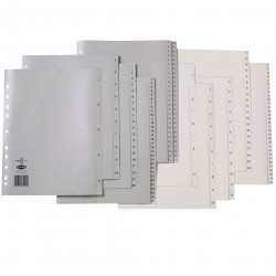 MARBIG COLOURED DIVIDERS A4 PP 1-31 White