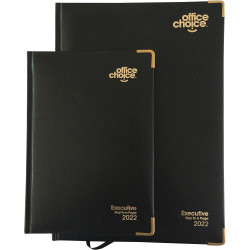 Office Choice Executive Diary A5 Day To Page Black